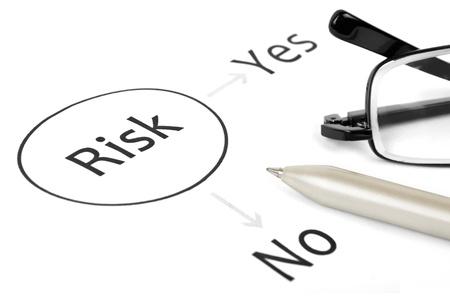 Plant das unternehmerische Risiko Standard-Bild - 15537101