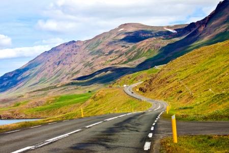 long road: Mountain road  Stock Photo