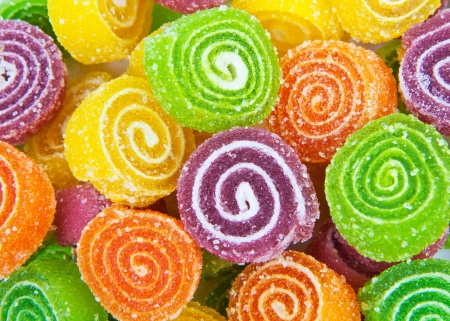 candy background: Close-up of colorful candy  Stock Photo