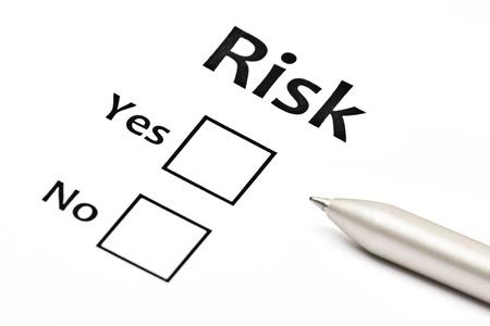 Plant das unternehmerische Risiko Standard-Bild - 15966925