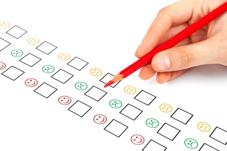 customer satisfaction questionnaire showing marketing or business concept Stock Photo - 15966957