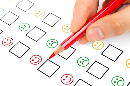 customer satisfaction questionnaire showing marketing or business concept  Stock Photo - 15966967