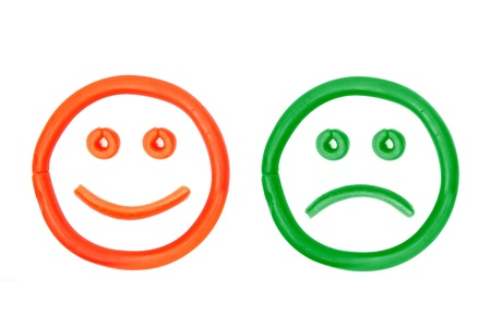 plasticine smiling and crying faces Stock Photo - 15966934