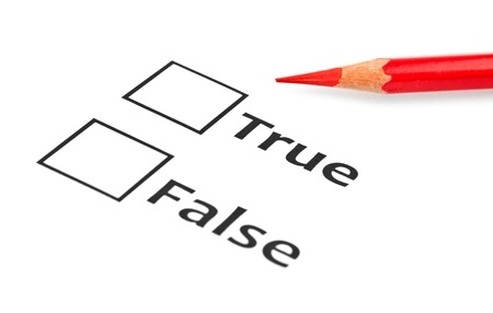 true or false with checkboxes Stock Photo - 15966924