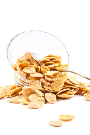 cornflakes: Bowl of dried cornflakes  Stock Photo