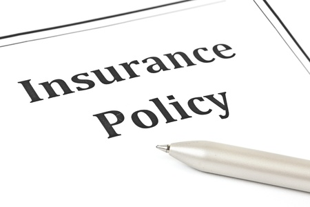 policy document: Insurance policy  Stock Photo