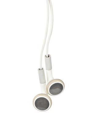 Cuffie bianco, concetto di musica digitale