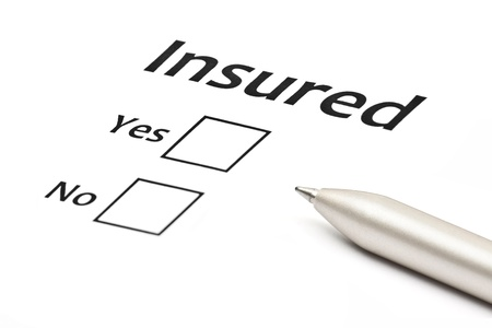 insurance or risk business concept