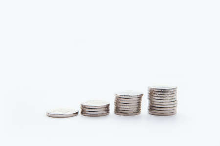 Save money and account banking for finance concept. Business growth. concept finance and accounting. Stacked coins. Stack of money coin with trading graph, financial investment concept can be use as b