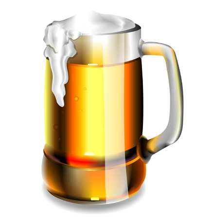 Isolated beer glass Stock Vector - 16708775