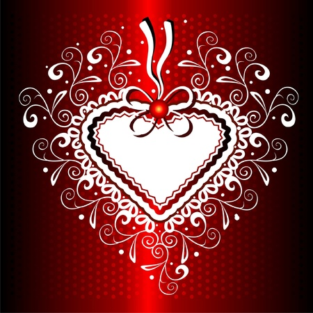 Gift background with hearts shape Vector