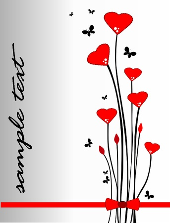 Valentines day floral decor Vector