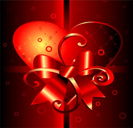 Gift background with decorative heart