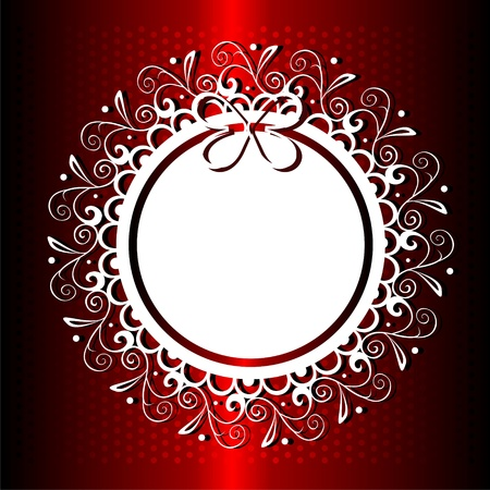 Gift background with round lacy shape Vector