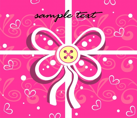 Gift background with decorative bow