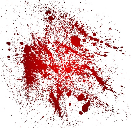 Abstract background with blood splatters Illustration