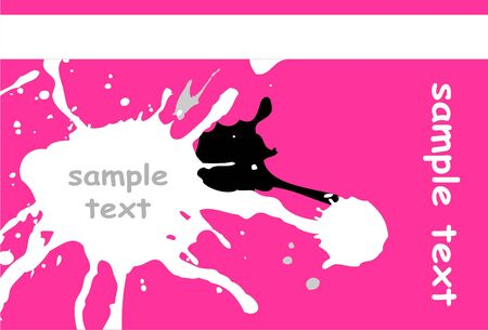 Abstract pink background with splashes Illustration