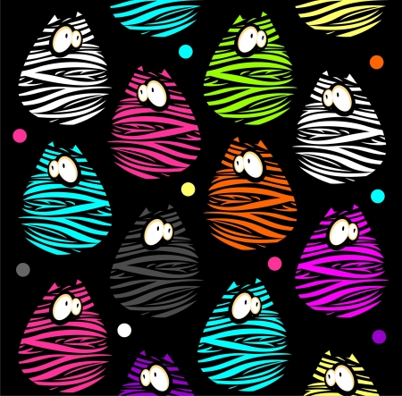 Seamless pattern with funny cats  Illustration