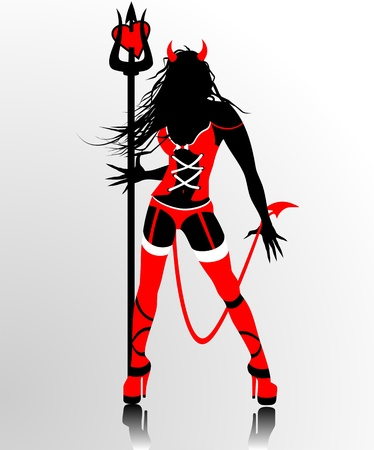 Devil woman silhouette
