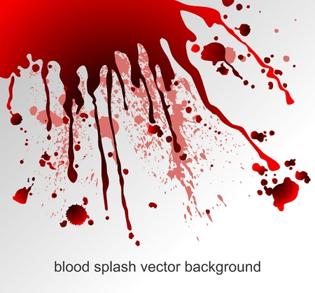 Abstract background with blood splatters  Vector