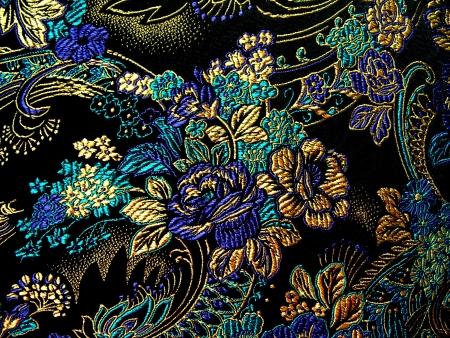 gestickt: Silk Textil-Hintergrund