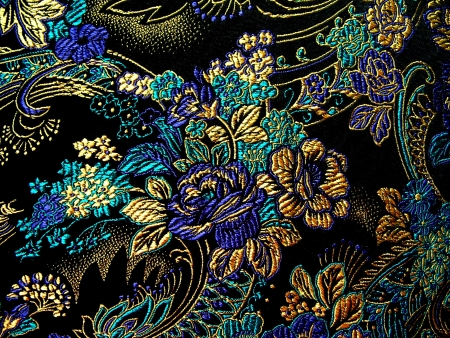 embroidered: Silk textile background