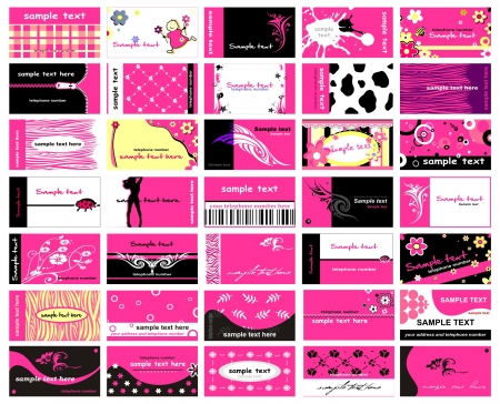 Set Of 35 Business Cards for lady