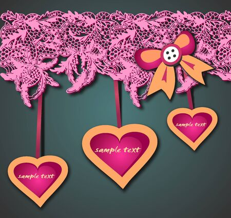 Gift lacy background with heart Stock Vector - 18554994