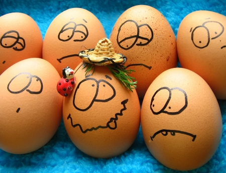 Funny easter eggs  photo