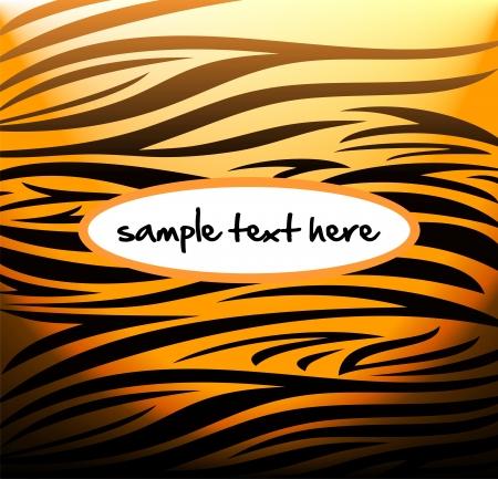 tiger skin: Tiger pattern