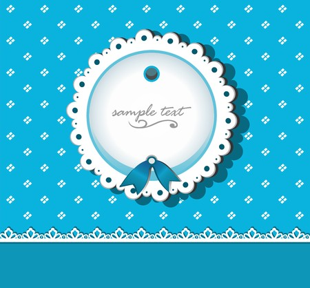tatting: Abstract vintage background with lacy shape Illustration