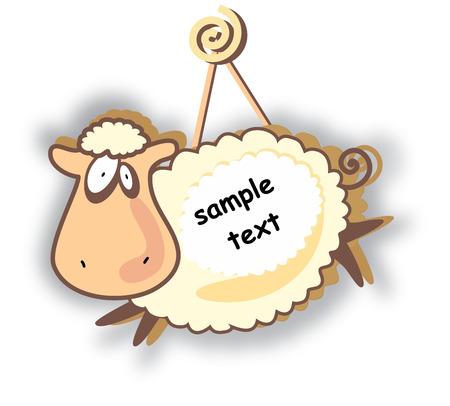 baby sheep: Funny sheep Illustration