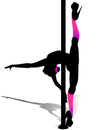 Flexible dancing girl Vector