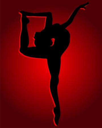 Flexible dancing girl Stock Vector - 23654937