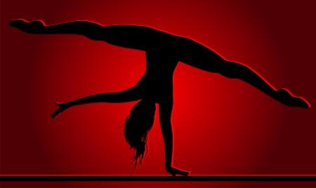 Flexible dancing girl Stock Vector - 23654965