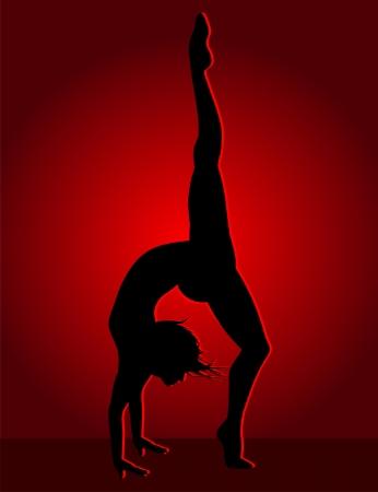 Flexible dancing girl Stock Vector - 23655098