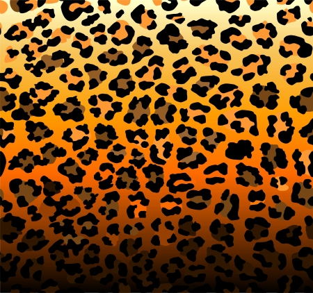 Abstract background with seamless leopard pattern Vector