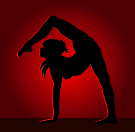 Flexible chica bailando Foto de archivo - 25463235