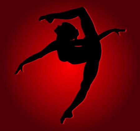 Flexible dancing girl  Stock Vector - 26058008