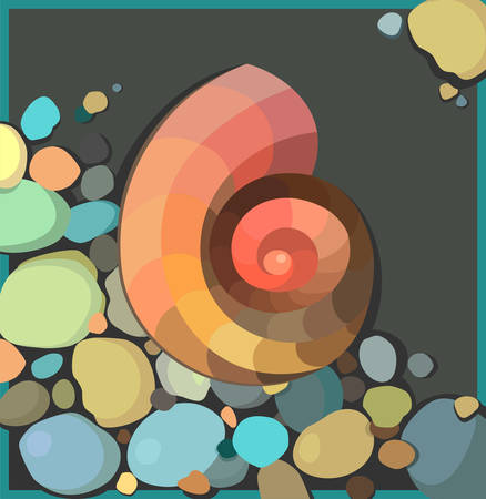 Vector illustration with abstract shell Illustration