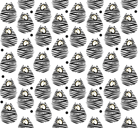 Seamless pattern with funny cats