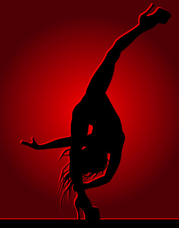 Flexible dancing girl Stock Vector - 26556575