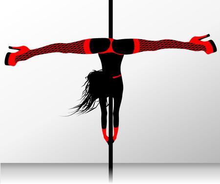 Pole Dance. Erotik-Striptease Standard-Bild - 26559703