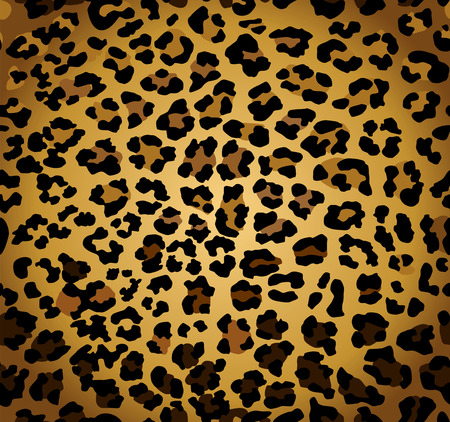 Abstract background with seamless leopard print Vector