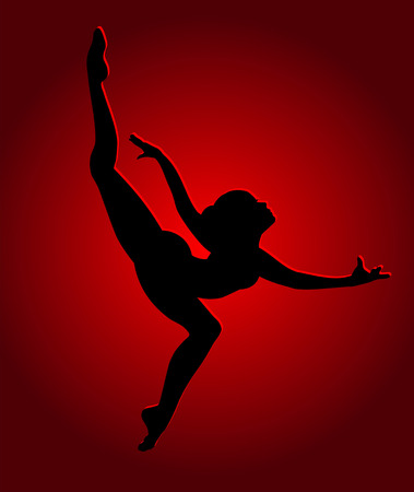 flexible girl: Flexible dancing girl in red light
