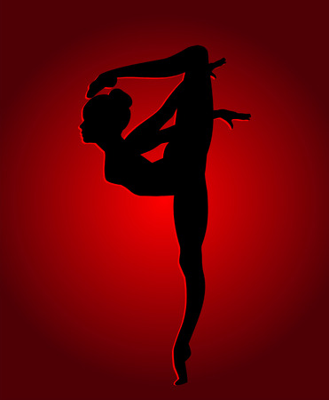 flexible woman: Flexible dancing girl in red light