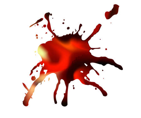 soiled: Abstract vector blot of blood Illustration
