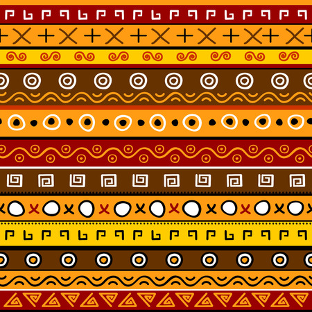 african fabric: Seamless background with abstract pattern Illustration