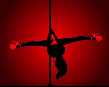 flexible woman: Pole dance.