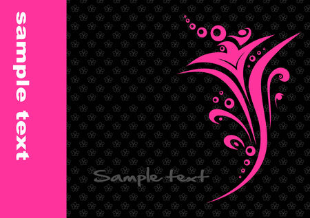 pink flower: Vector background with abstract pink flower Illustration